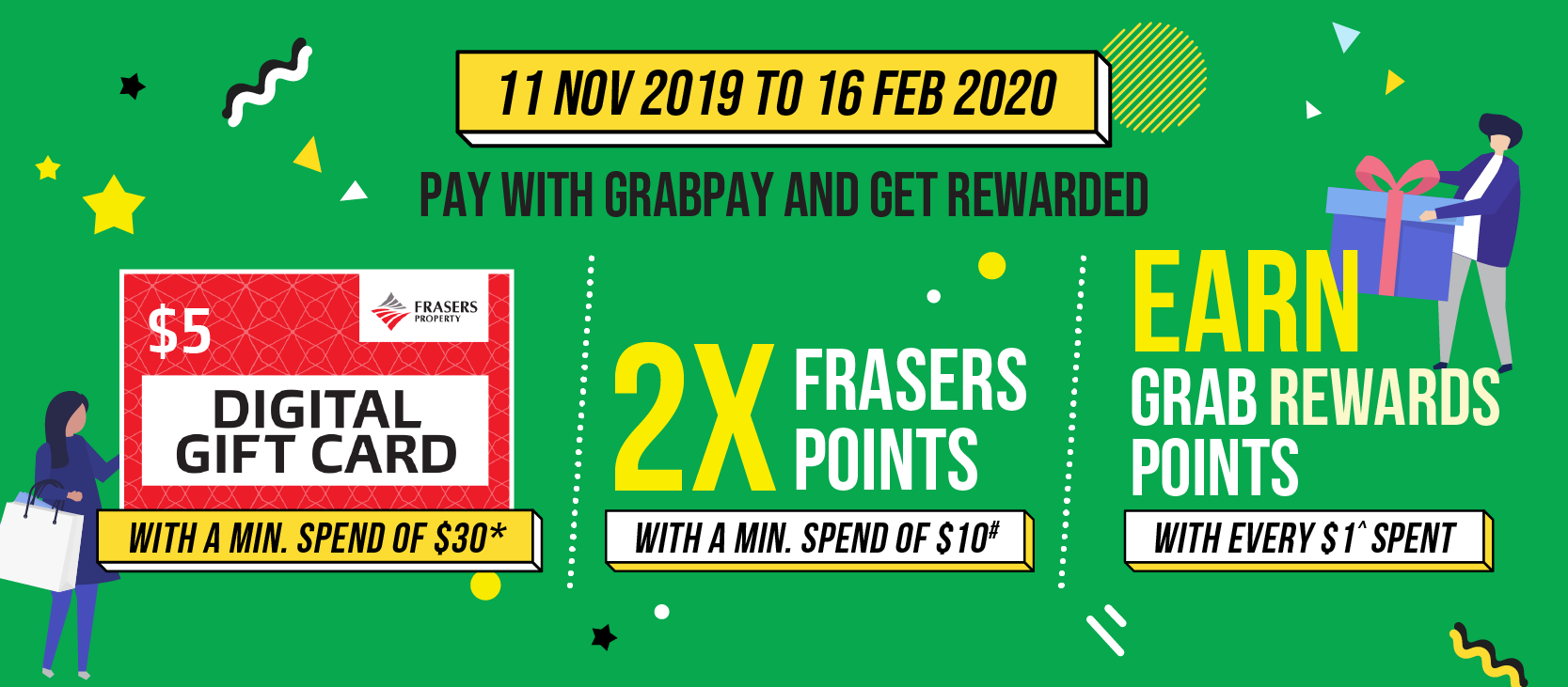Frasers Experience X GrabPay - Now available at the malls of Frasers Property